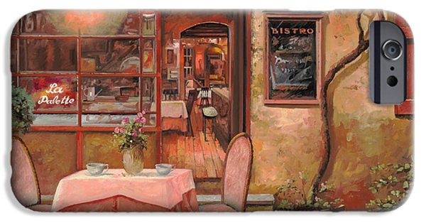 Street Scene Paintings iPhone Cases - La Palette iPhone Case by Guido Borelli
