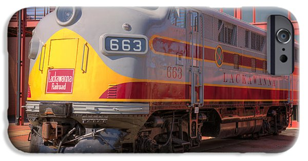 Historic Site iPhone Cases - Lackawanna Locomotive 663 iPhone Case by Clarence Holmes