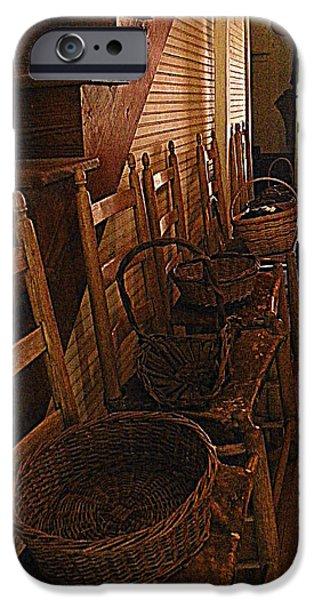 Ladder Backs and Baskets I iPhone Case by Sheri McLeroy