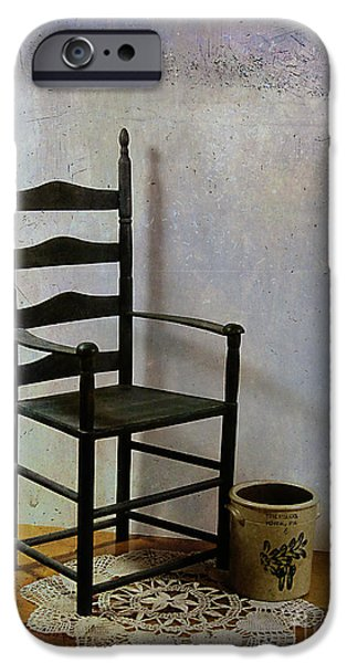 Ladderback Chair iPhone Cases - Ladderback iPhone Case by Judi Bagwell