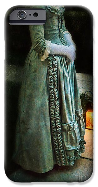 Lady by Lantern Light iPhone Case by Jill Battaglia