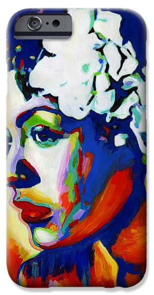Harlem iPhone Cases - Lady Day iPhone Case by Vel Verrept