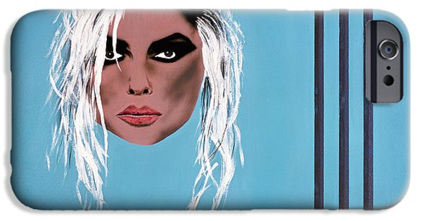 Airbrush iPhone Cases - Lady of the eighties iPhone Case by Bruce Stanfield