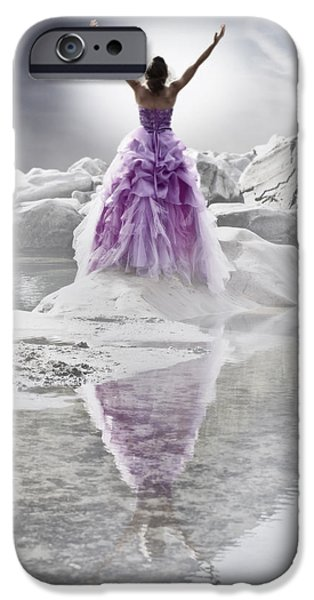 Lady on the rocks iPhone Case by Joana Kruse