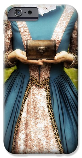 lady with a chest iPhone Case by Joana Kruse