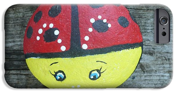 Fun Sculptures iPhone Cases - Ladybug iPhone Case by Monika Dickson-Shepherdson