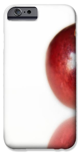 Ladybug on Grape iPhone Case by Artist and Photographer Laura Wrede