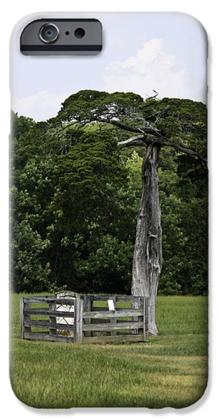 Lafayette Meeks Cemetery Appomattox Virginia iPhone Case by Teresa Mucha