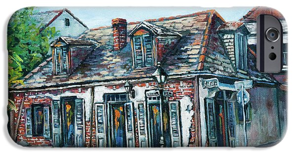 Street Scene Paintings iPhone Cases - Lafittes Blacksmith Shop iPhone Case by Dianne Parks