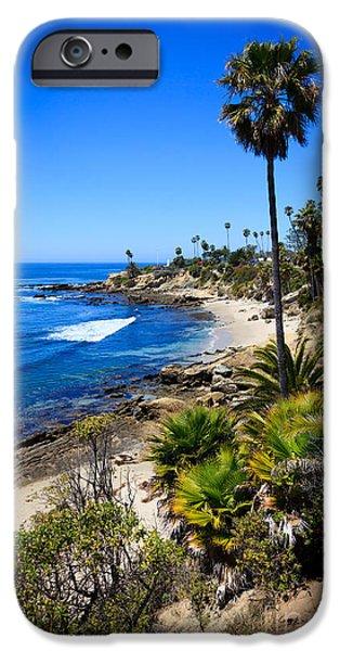 Getaway iPhone Cases - Laguna Beach California Beaches iPhone Case by Paul Velgos