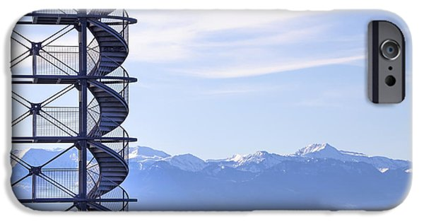 Observation iPhone Cases - Lake Constance Friedrichshafen iPhone Case by Joana Kruse