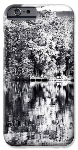 Lake Drama iPhone Case by John Rizzuto