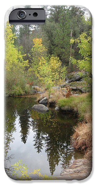 Sierras iPhone Cases - Lake in Sierras iPhone Case by Naxart Studio
