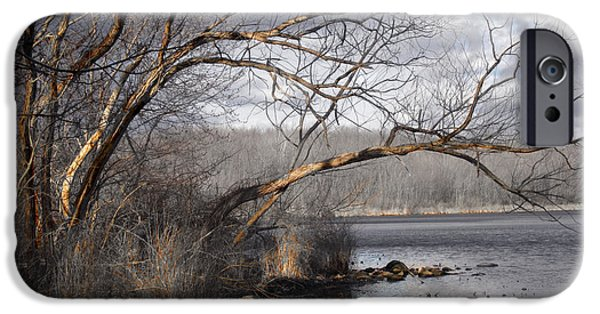 Lakescape iPhone Cases - Lake in Upper Nyack Park NY iPhone Case by Viola El