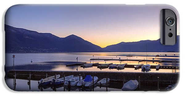 Boat iPhone Cases - Lake Maggiore - Ascona iPhone Case by Joana Kruse