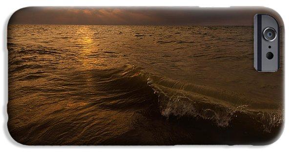 Indiana iPhone Cases - Lake Michigan Sunset iPhone Case by Steve Gadomski