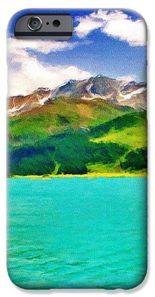 Lake Sils iPhone Case by Jeff Kolker