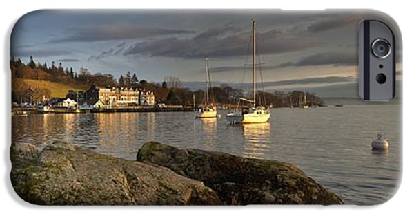 Sailboat iPhone Cases - Lake Windermere Ambleside, Cumbria iPhone Case by John Short