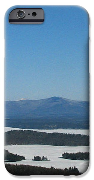Lake Winnipesaukee view from Mt. Major iPhone Case by Michael Mooney