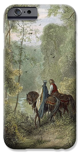 LANCELOT & GUINEVERE iPhone Case by Granger