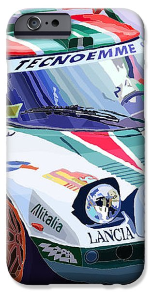 Lancia Stratos Alitalia Rally Catalonya Costa Brava 2008 iPhone Case by Yuriy  Shevchuk