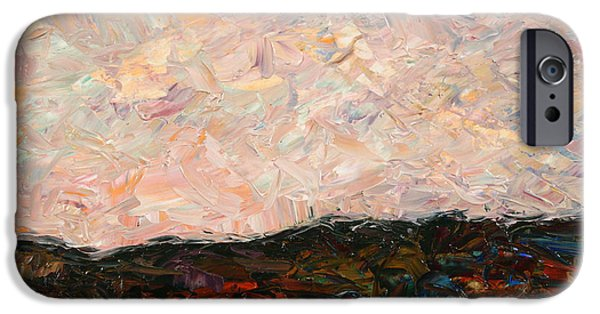 Impressionist iPhone Cases - Land and Sky iPhone Case by James W Johnson
