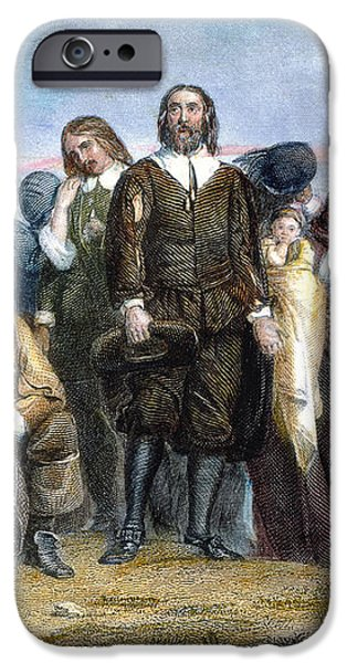 LANDING OF PILGRIMS, 1620 iPhone Case by Granger