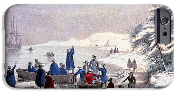 Freedom iPhone Cases - Landing Of The Pilgrims On Plymouth iPhone Case by Photo Researchers