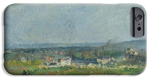 Camille Pissarro iPhone Cases - Landscape in Pontoise iPhone Case by Camille Pissarro