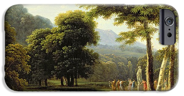 Pagan iPhone Cases - Landscape iPhone Case by Jean Victor Bertin