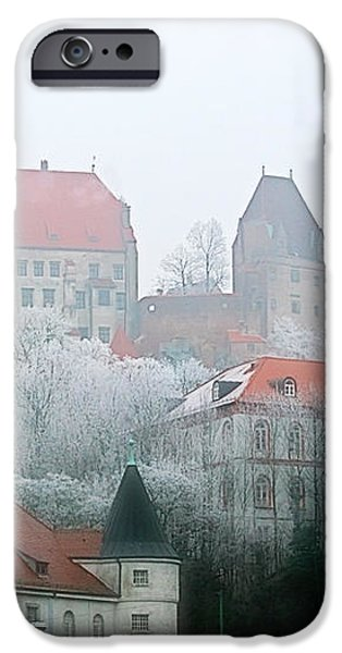 Landshut Bavaria on a Foggy Day iPhone Case by Christine Till