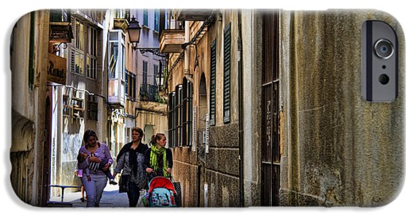 Lane iPhone Cases - Lane in Palma de Majorca Spain iPhone Case by David Smith
