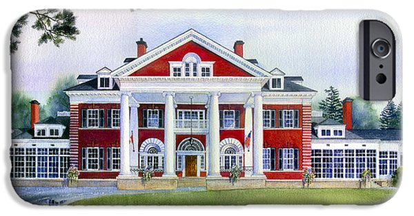 Cambridge Paintings iPhone Cases - Langdon Hall iPhone Case by Hanne Lore Koehler