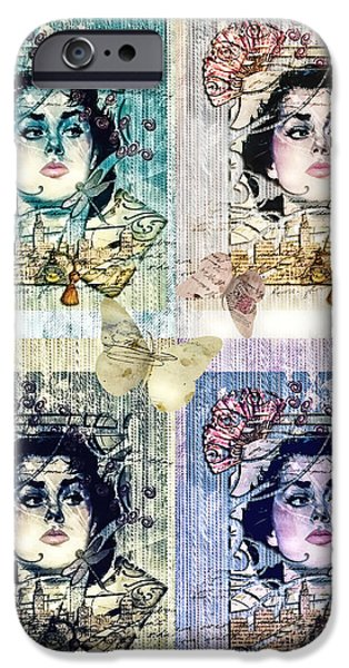 Thinking Mixed Media iPhone Cases - Languissant iPhone Case by Mo T