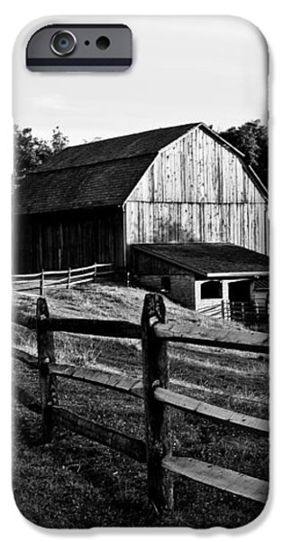 Langus Farms Black and White iPhone Case by Jim Finch