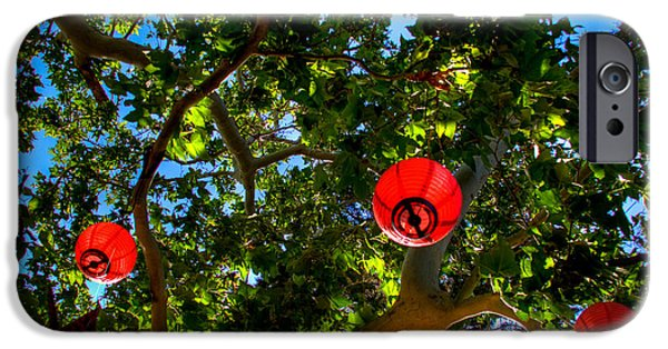 Sedona iPhone Cases - Lanterns at Tlaquepaque in Sedona Arizona iPhone Case by David Patterson