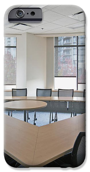 Large Empty Boardroom. A Long Narrow iPhone Case by Marlene Ford