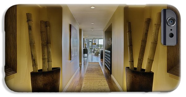 Bamboo House iPhone Cases - Large Hallway in Upscale Residence iPhone Case by Andersen Ross