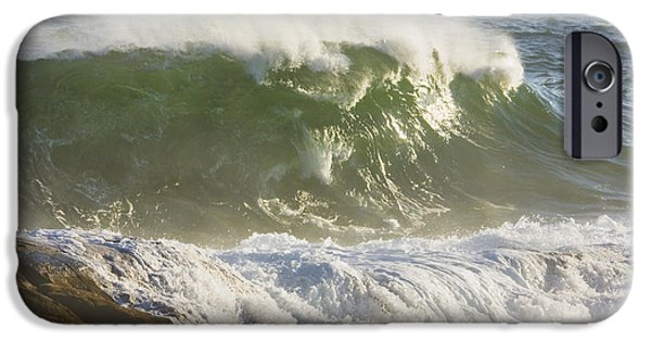 Maine iPhone Cases - Large Waves And Seagulls Near Pemaquid Point On Maine iPhone Case by Keith Webber Jr