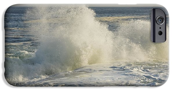 Maine iPhone Cases - Large Waves On Rocky The Coast Maine iPhone Case by Keith Webber Jr