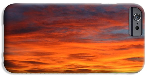 Sunset Framed Prints iPhone Cases - Las Cruces Sunset iPhone Case by Jack Pumphrey