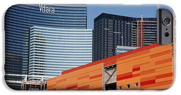 City Scape iPhone Cases - Las Vegas under construction iPhone Case by Susanne Van Hulst