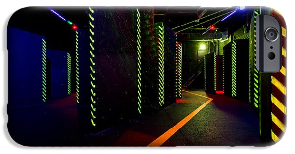 Electrical Equipment Photographs iPhone Cases - Laser Game Area With Obstacles iPhone Case by Corepics