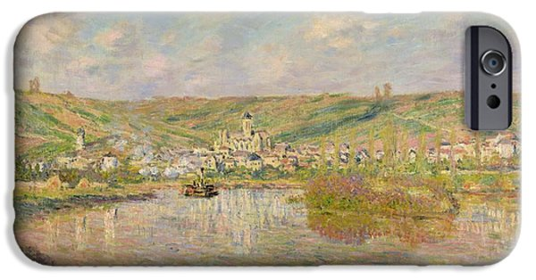River View Paintings iPhone Cases - Late Afternoon - Vetheuil iPhone Case by Claude Monet