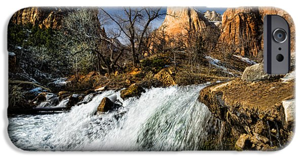 Patriarch iPhone Cases - Late Afternoon At The Court Of The Patriarchs iPhone Case by Christopher Holmes
