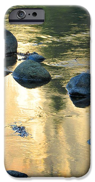 Late Afternoon Reflections in Merced River in Yosemite Valley iPhone Case by Greg Matchick