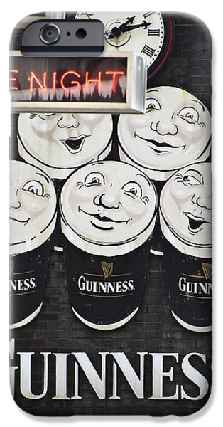 Draft iPhone Cases - Late Night Guinness Limerick Ireland iPhone Case by Teresa Mucha