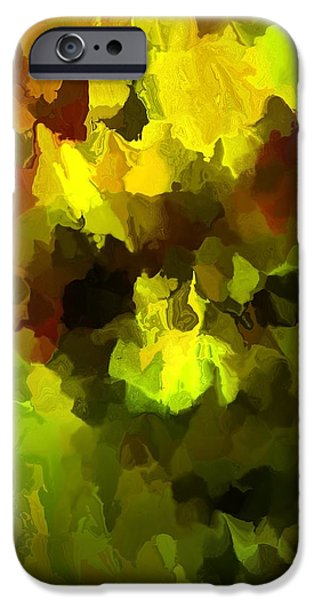 Late Summer Nature Abstract iPhone Case by David Lane