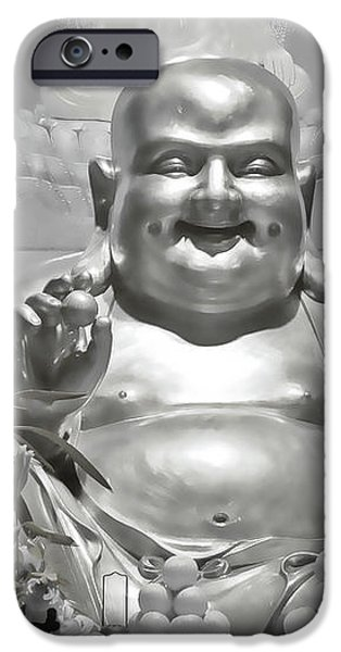 Laughing Buddha - A symbol of joy and wealth iPhone Case by Christine Till