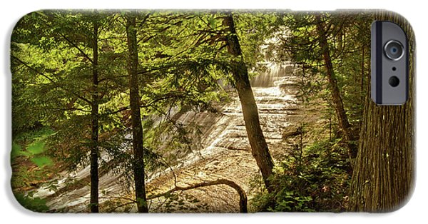 Chatham iPhone Cases - Laughing Whitefish Falls 2 iPhone Case by Michael Peychich